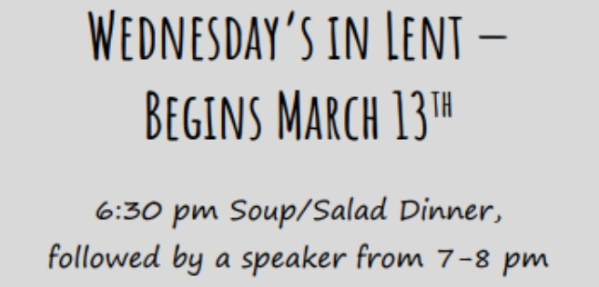 Wednesdays in Lent